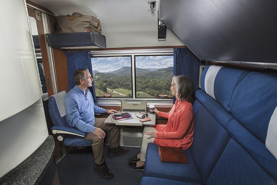 Sleeping Car Room Options aboard Amtrak
