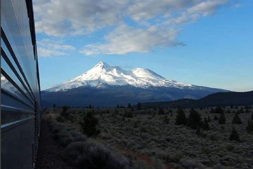 Mt. Shasta from Train