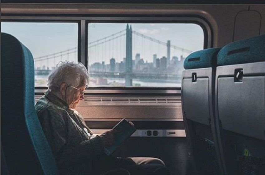 Train view of NYC